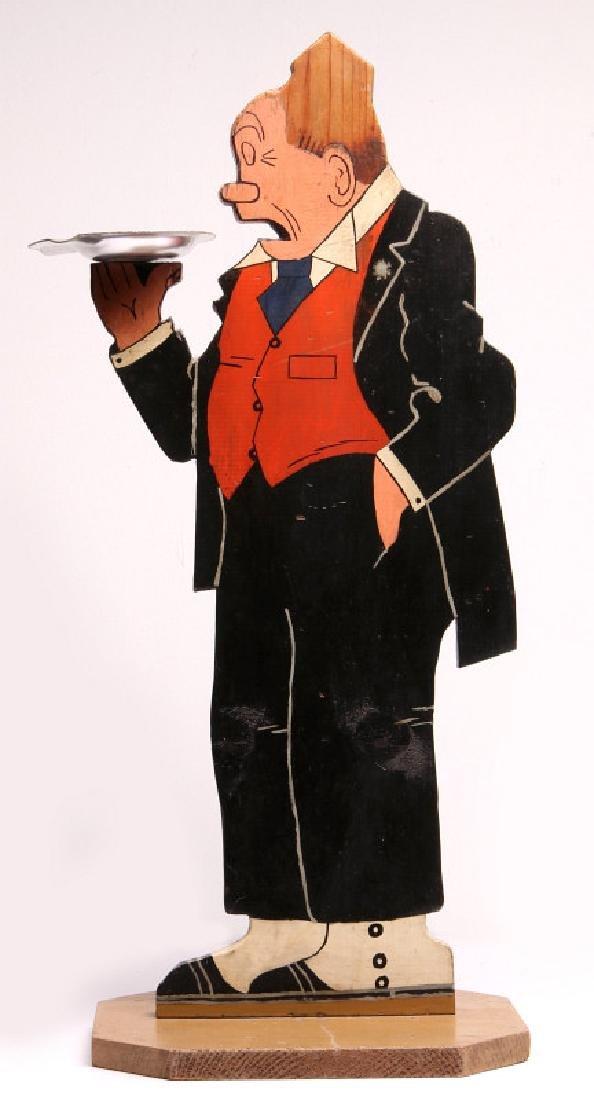 1930s PAINTED WOOD FIGURE OF COMIC CHARACTER JIGGS
