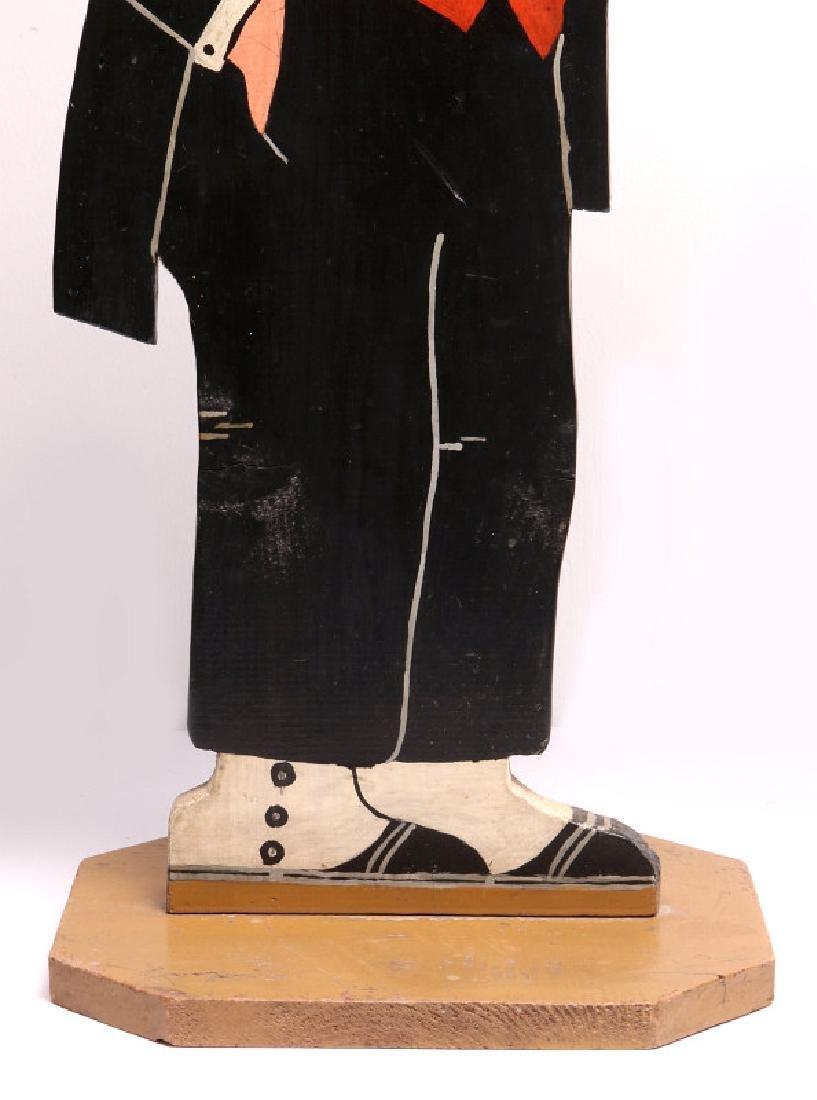 1930s PAINTED WOOD FIGURE OF COMIC CHARACTER JIGGS - 9