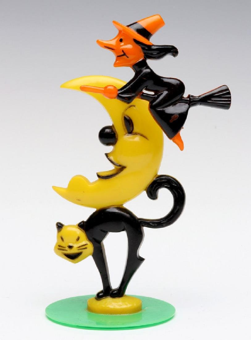 MID 20C HALLOWEEN NOVELTY WITH SPRING ACTION WITCH
