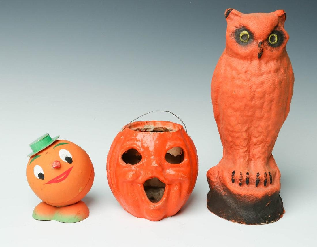 VINTAGE PRESSED PAPER HALLOWEEN NOVELTIES