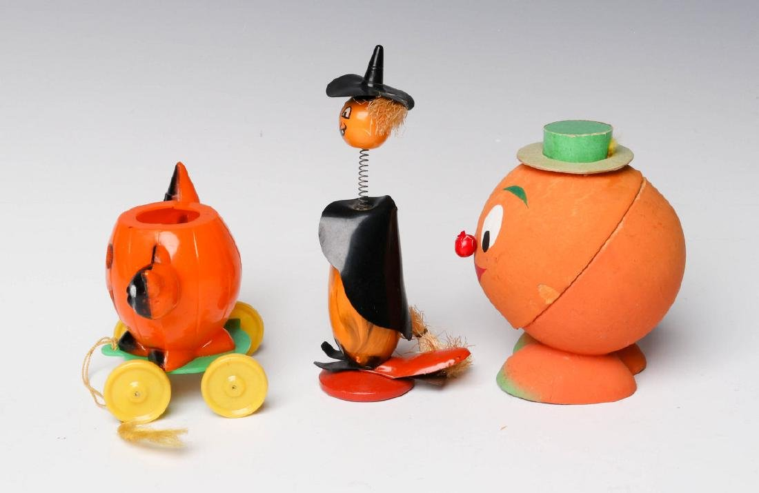 VINTAGE HALLOWEEN CANDY CONTAINERS AND NOISE MAKER - 2
