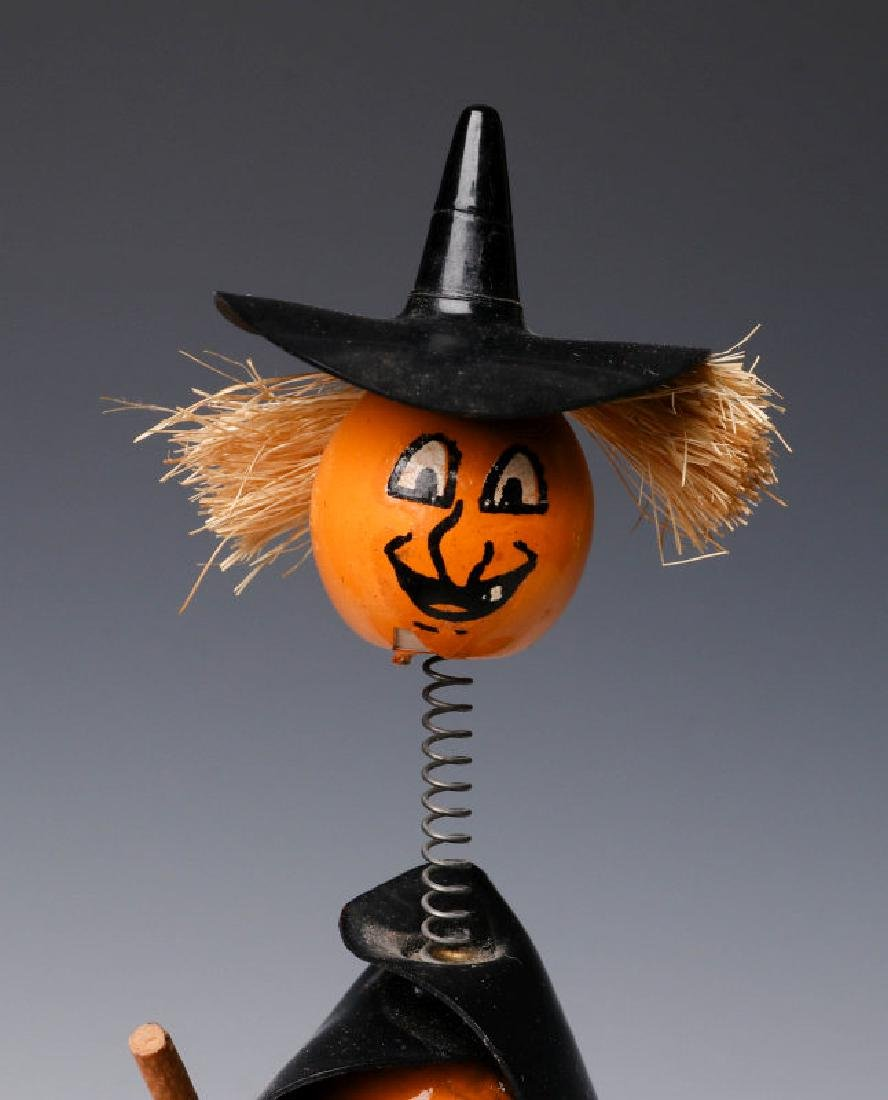 VINTAGE HALLOWEEN CANDY CONTAINERS AND NOISE MAKER - 6