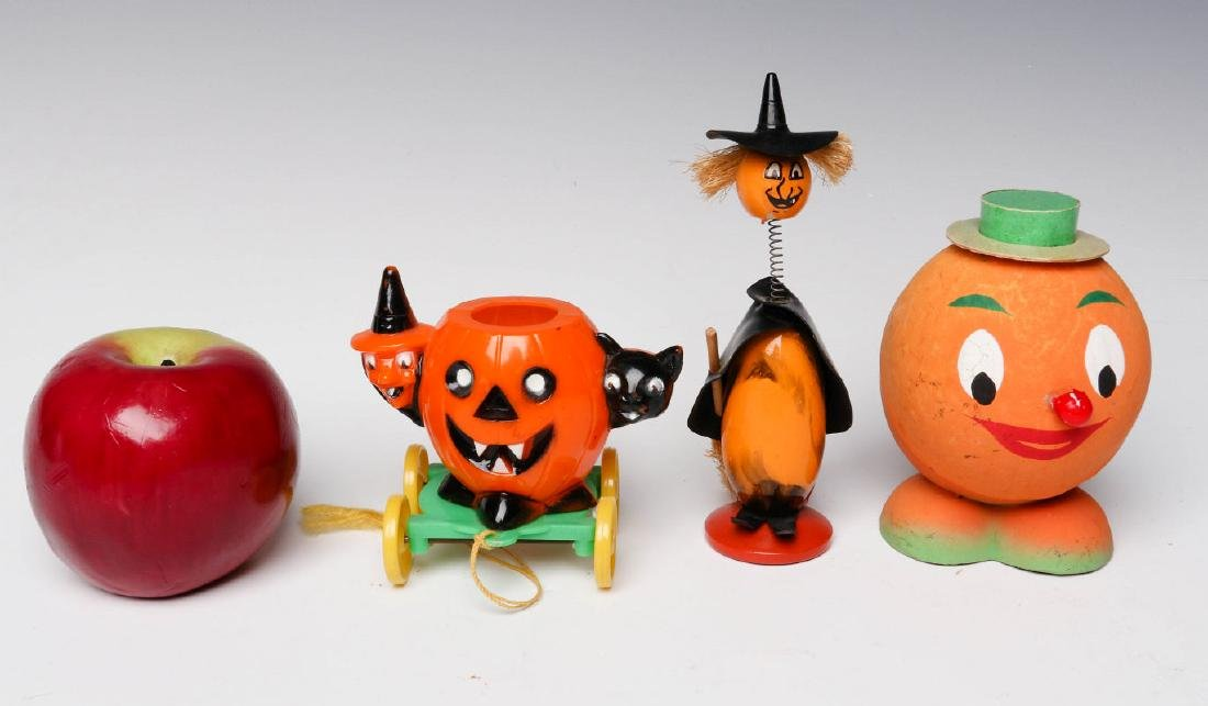 VINTAGE HALLOWEEN CANDY CONTAINERS AND NOISE MAKER - 7