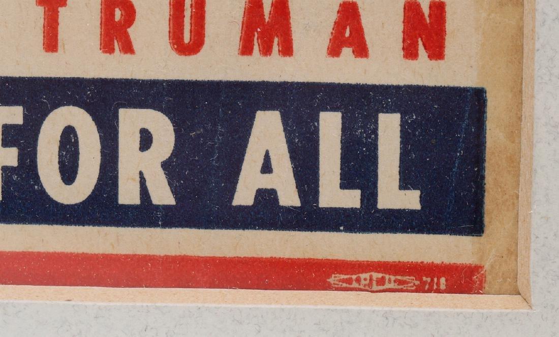 A 1944 ROOSEVELT TRUMAN CAMPAIGN POSTER - 6