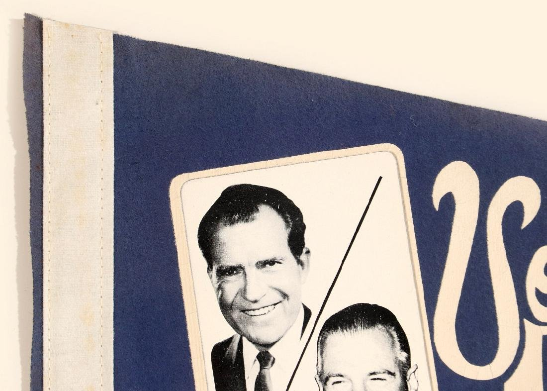 NIXON AGNEW AND HUMPHREY MUSKIE PHOTO PENNANTS - 2