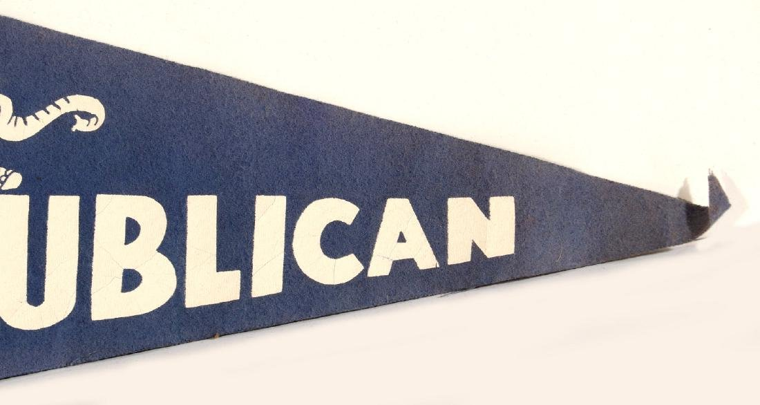 NIXON AGNEW AND HUMPHREY MUSKIE PHOTO PENNANTS - 5