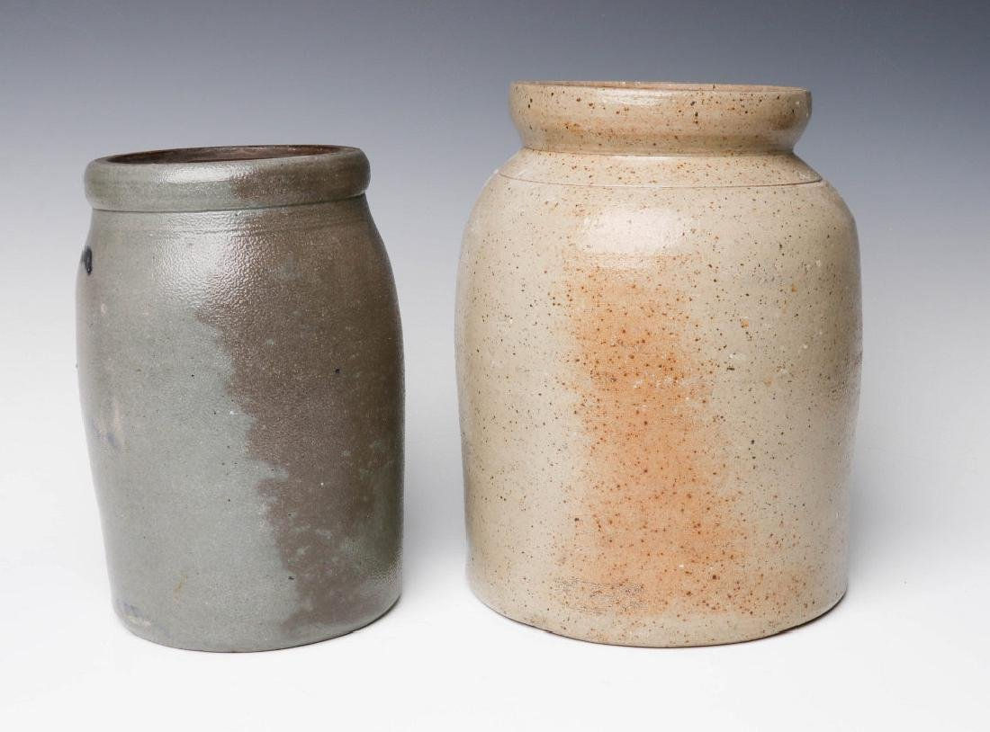 TWO 19TH CENTURY STONEWARE CANNING JARS - 4