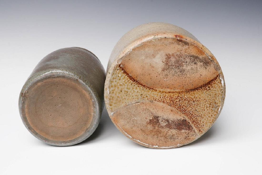 TWO 19TH CENTURY STONEWARE CANNING JARS - 7