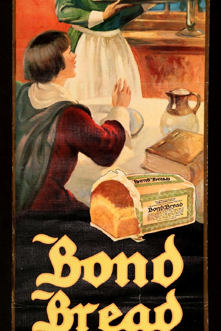 A 1930s BOND BREAD THANKSGIVING GREETINGS SIGN - 4