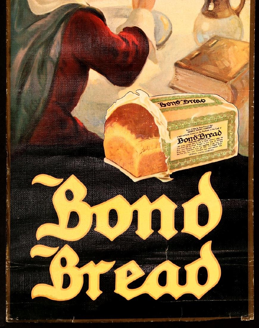 A 1930s BOND BREAD THANKSGIVING GREETINGS SIGN - 5