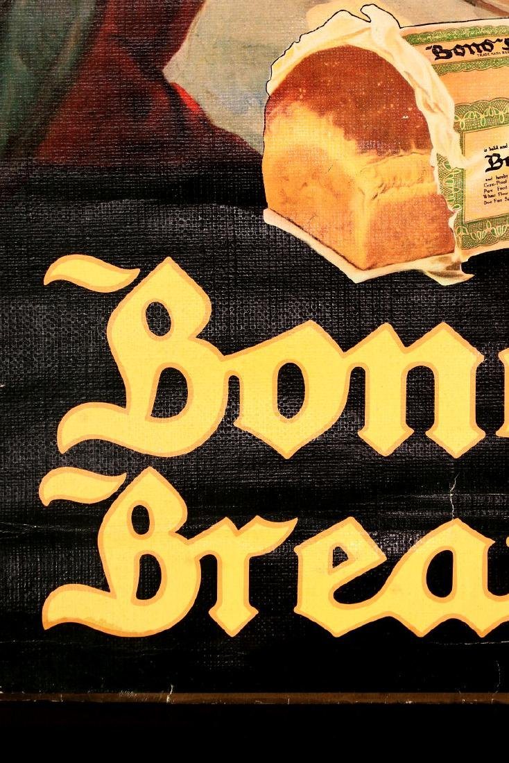 A 1930s BOND BREAD THANKSGIVING GREETINGS SIGN - 7