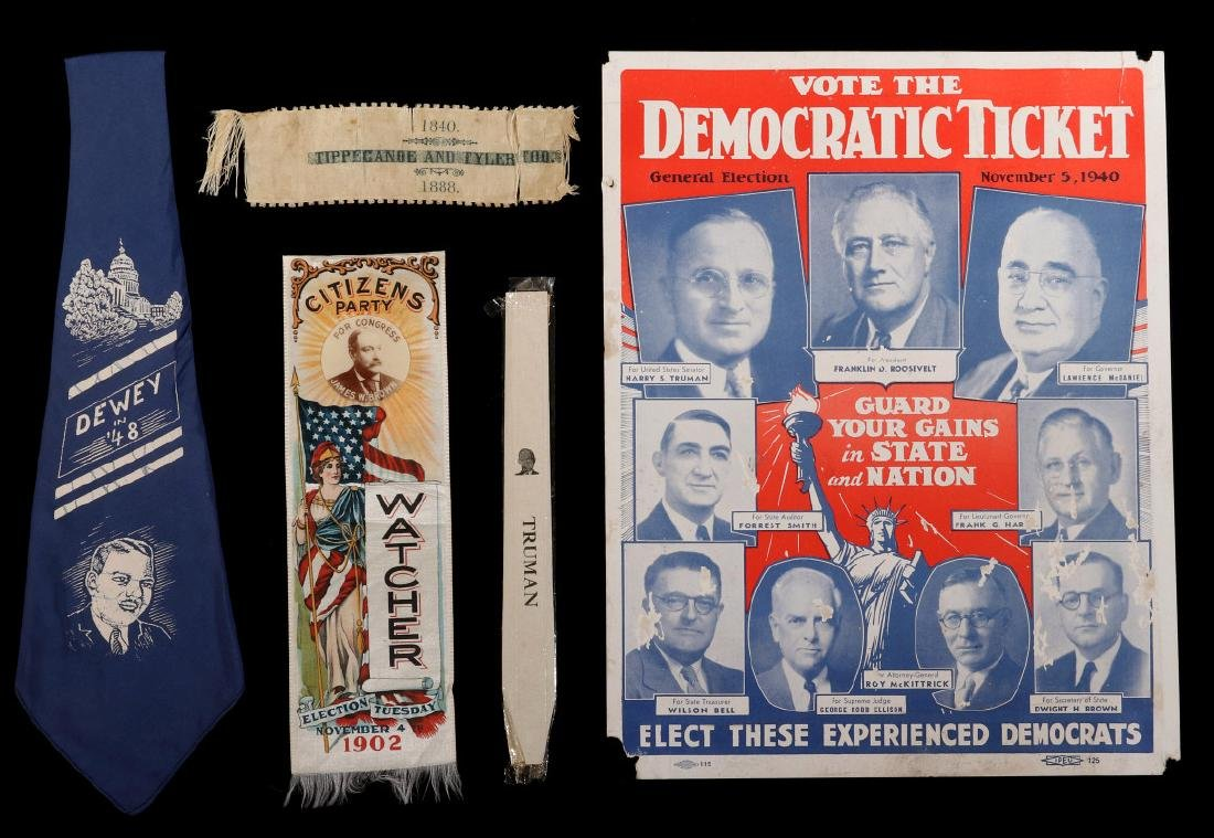 A COLLECTION OF POLITICAL MEMORABILIA 1880s - 1940s