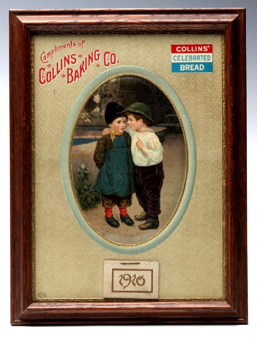 COLLINS' BAKING CELEBRATED BREAD CALENDAR 1910