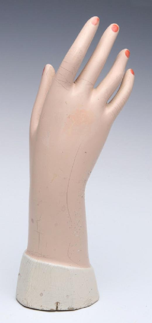 A CIRCA 1930s DEPARTMENT STORE HAND MANNEQUIN