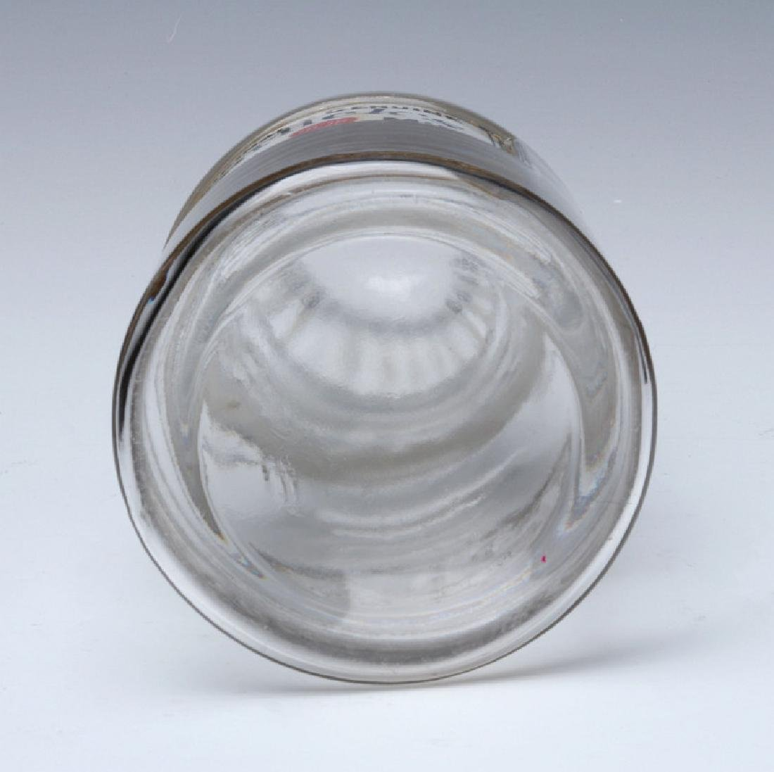 HORLICK'S LABEL UNDER GLASS DRUG STORE CANDY JAR - 8