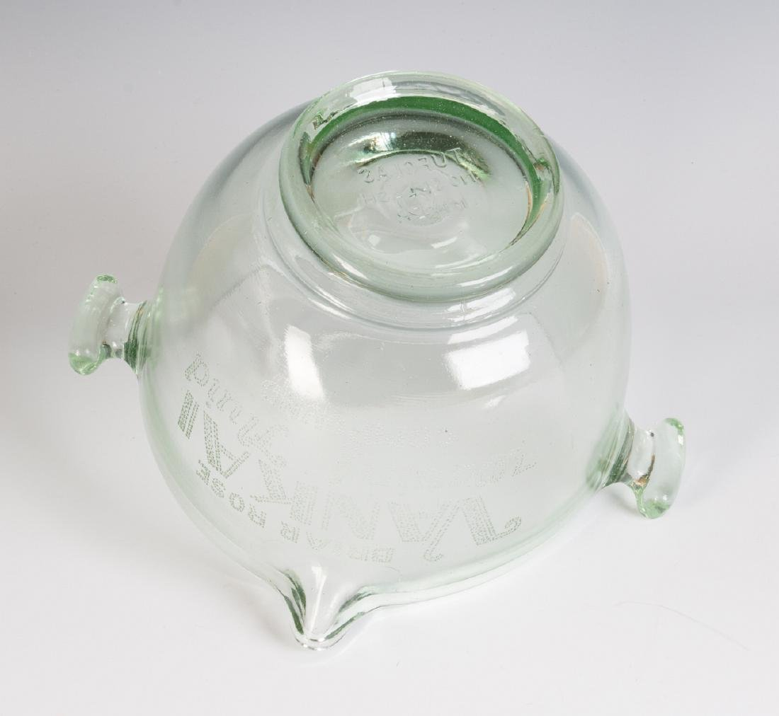 A 1930s GLASS ADVERTISING BOWL, HAIR WAVE COMPOUND - 10