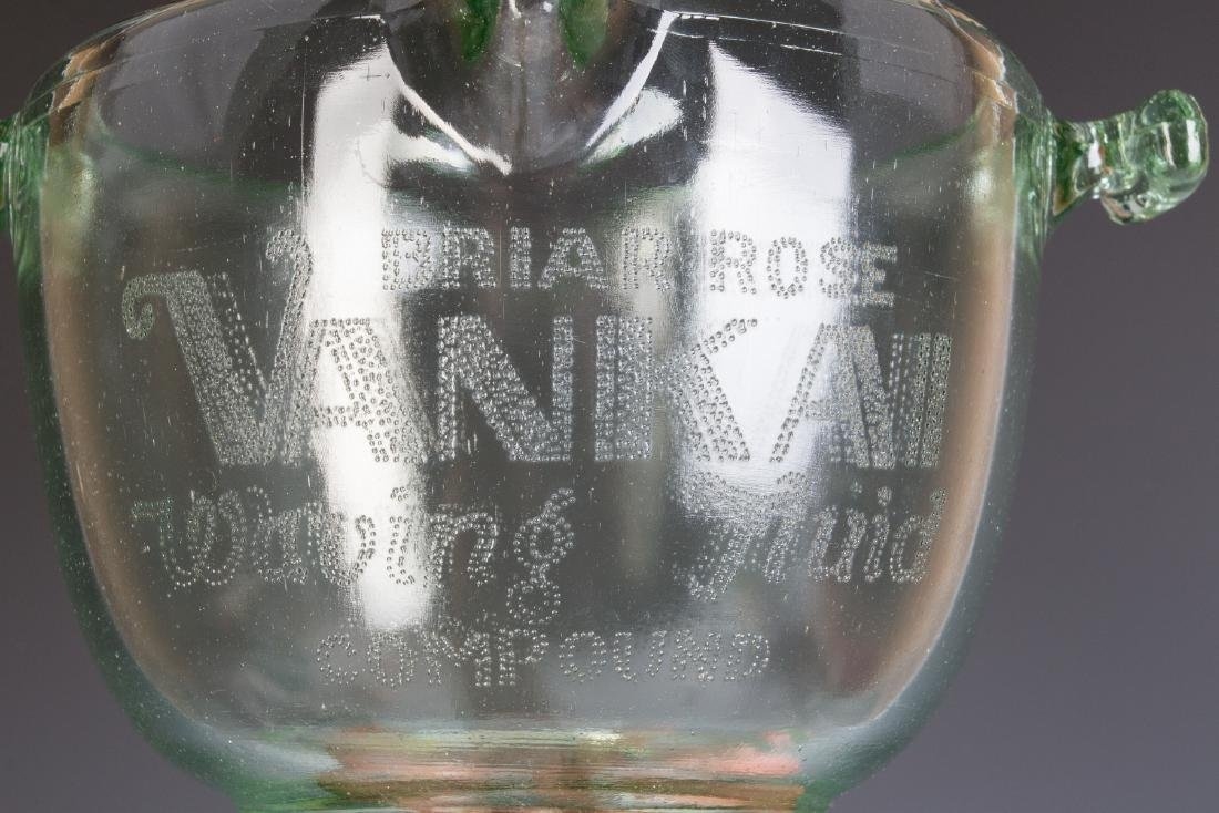A 1930s GLASS ADVERTISING BOWL, HAIR WAVE COMPOUND - 11