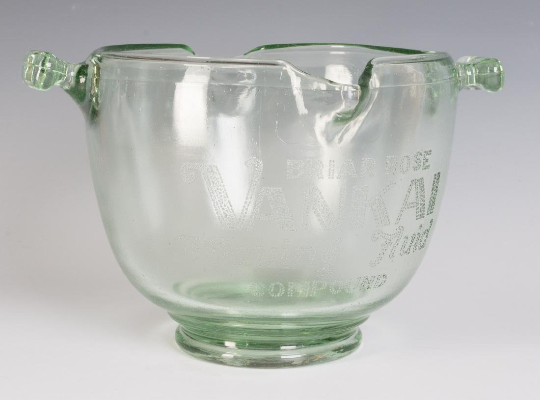 A 1930s GLASS ADVERTISING BOWL, HAIR WAVE COMPOUND - 2