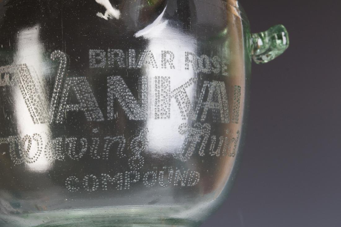 A 1930s GLASS ADVERTISING BOWL, HAIR WAVE COMPOUND - 3