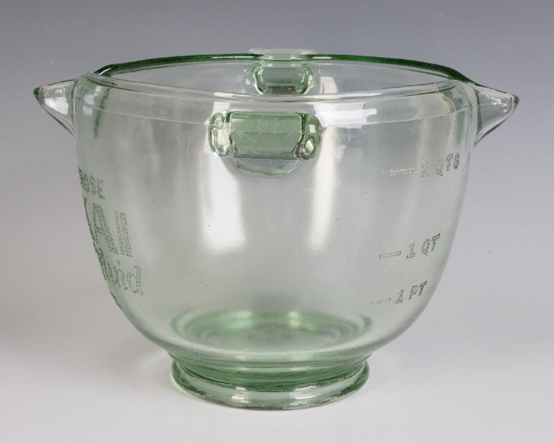 A 1930s GLASS ADVERTISING BOWL, HAIR WAVE COMPOUND - 5