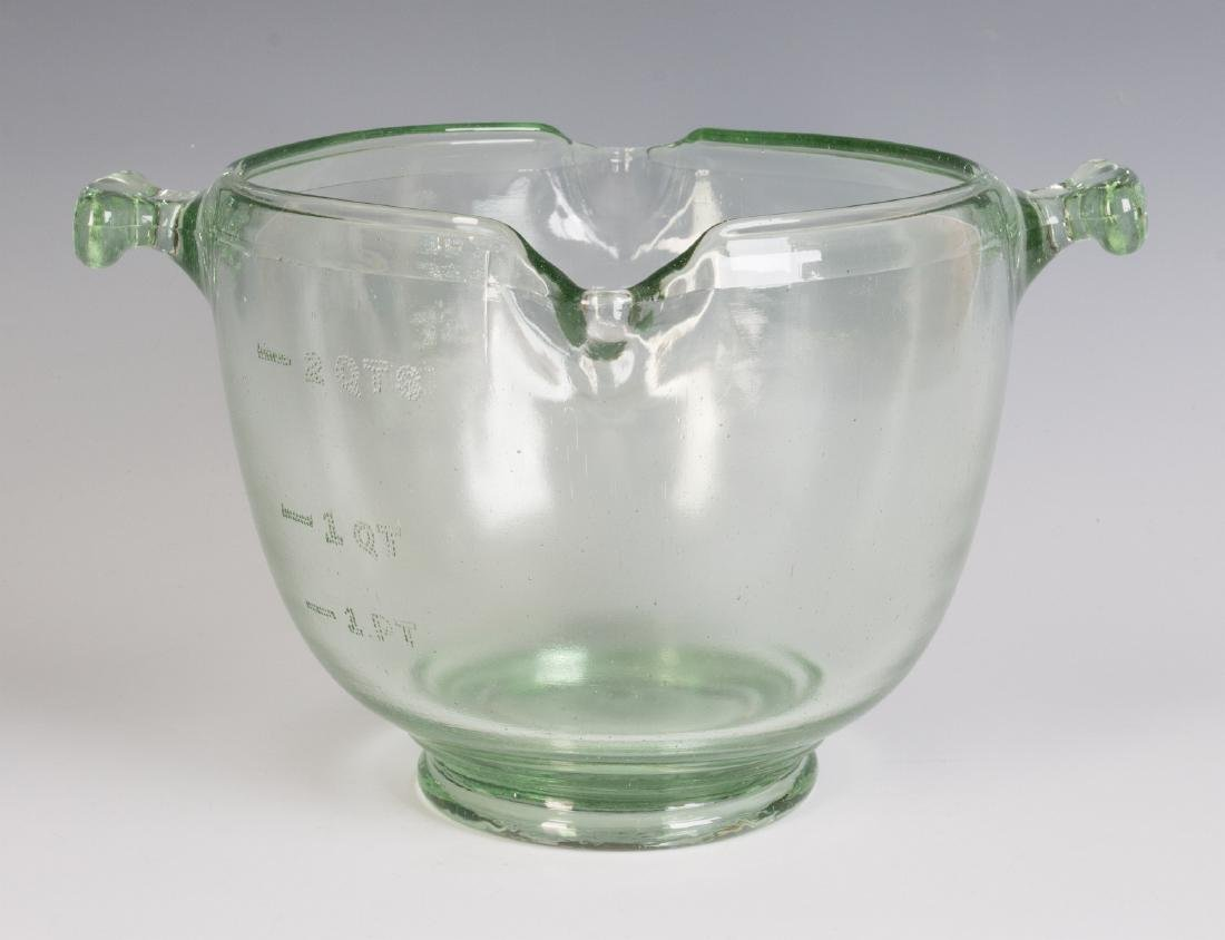 A 1930s GLASS ADVERTISING BOWL, HAIR WAVE COMPOUND - 6