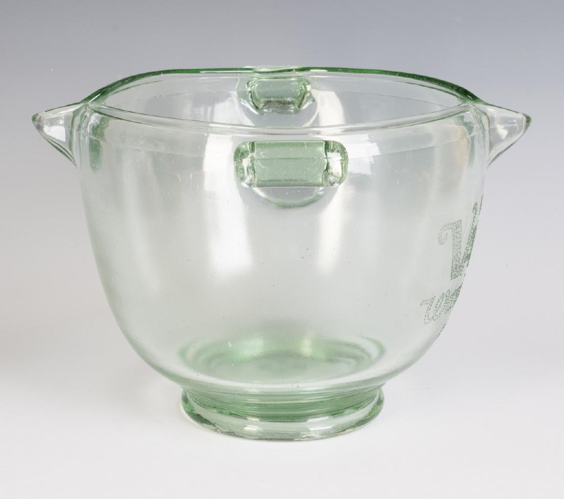 A 1930s GLASS ADVERTISING BOWL, HAIR WAVE COMPOUND - 7