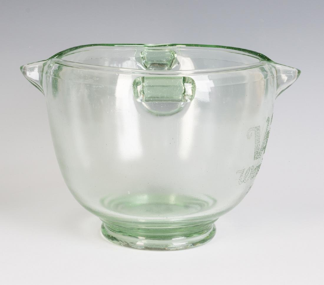 A 1930s GLASS ADVERTISING BOWL, HAIR WAVE COMPOUND - 8