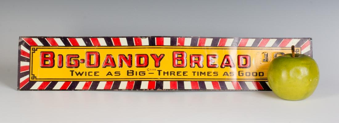 A VINTAGE EMBOSSED TIN SIGN FOR BIG DADDY BREAD - 2