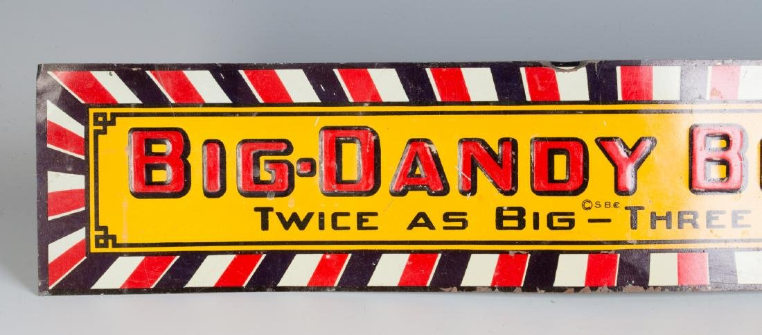 A VINTAGE EMBOSSED TIN SIGN FOR BIG DADDY BREAD - 3