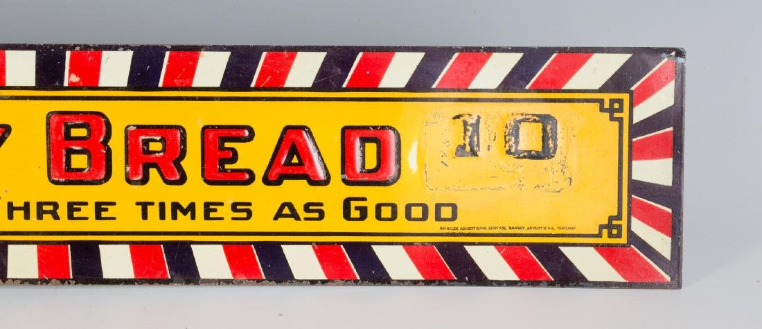 A VINTAGE EMBOSSED TIN SIGN FOR BIG DADDY BREAD - 4