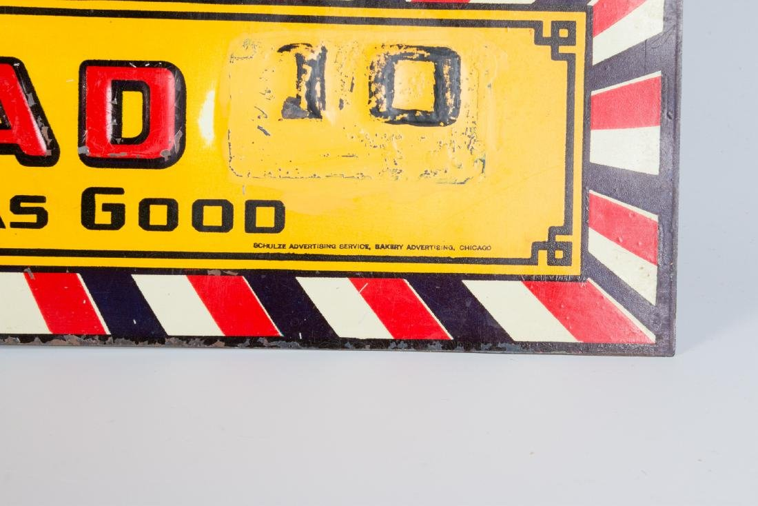 A VINTAGE EMBOSSED TIN SIGN FOR BIG DADDY BREAD - 5