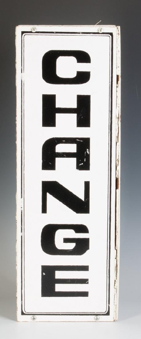 A PAIR OF THREE-SIDED 'CHANGE' HANGING SIGNS - 3