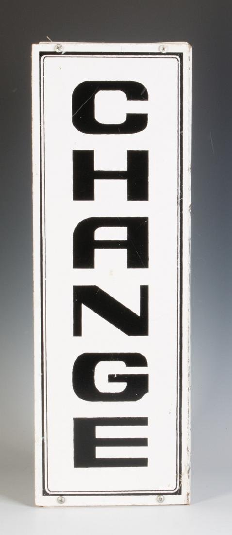 A PAIR OF THREE-SIDED 'CHANGE' HANGING SIGNS - 4