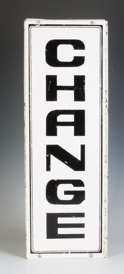 A PAIR OF THREE-SIDED 'CHANGE' HANGING SIGNS - 5