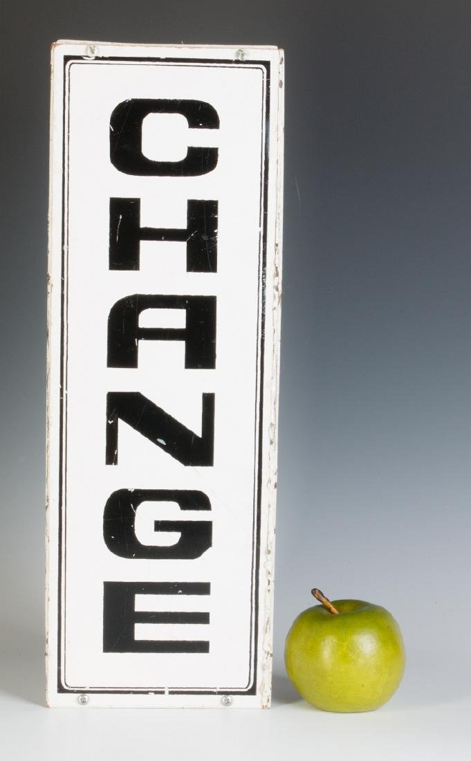 A PAIR OF THREE-SIDED 'CHANGE' HANGING SIGNS - 6