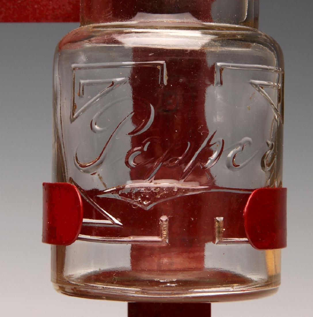 AN UNUSUAL 1930s GLASS JAR HANGING SPICE RACK - 7