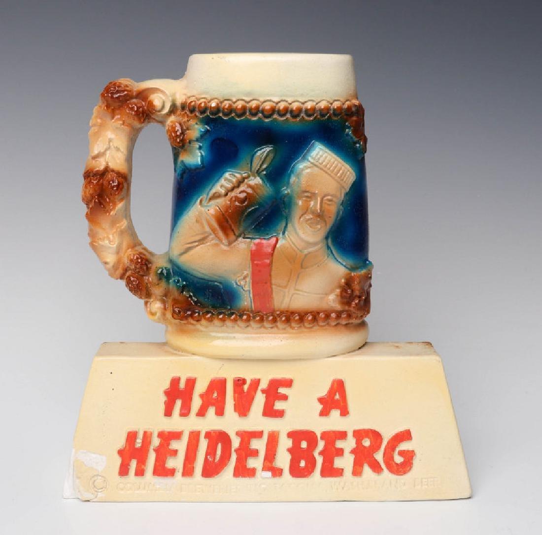 HAVE A HEIDELBERG 1940s FIGURAL CHALK ADVERTISING