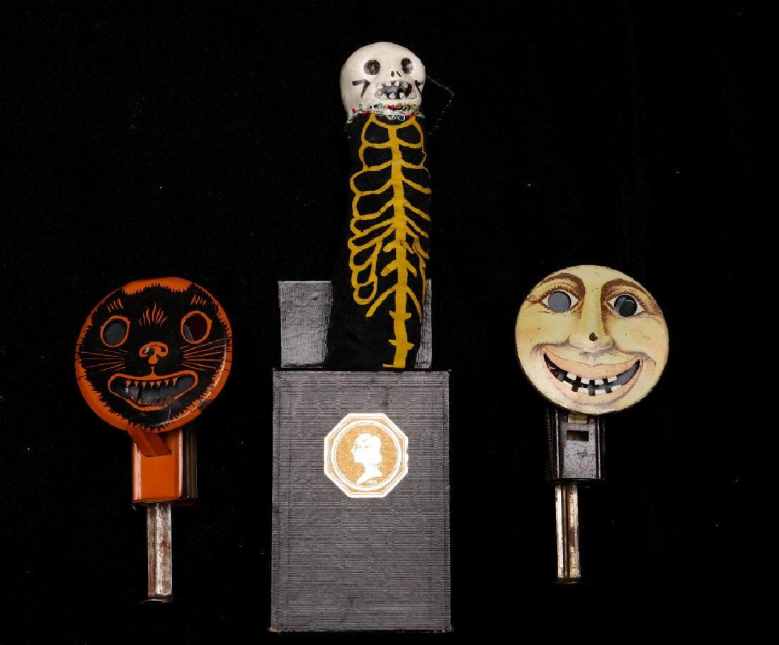 VINTAGE HALLOWEEN NOISEMAKERS AND POP-OUT GAG