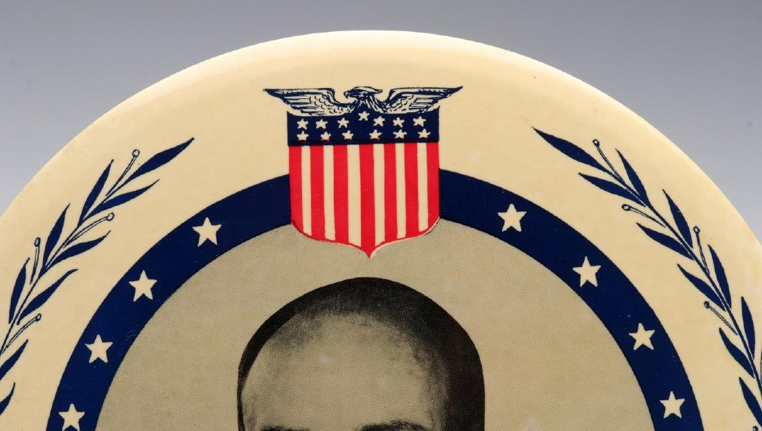 A NINE INCH ADLAI STEVENSON 1952 PORTRAIT BUTTON - 3