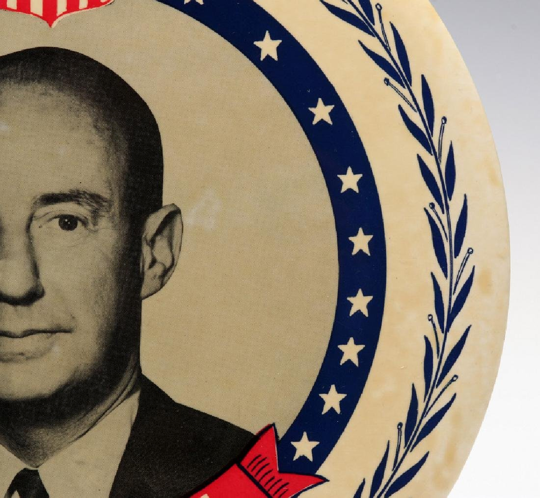 A NINE INCH ADLAI STEVENSON 1952 PORTRAIT BUTTON - 4