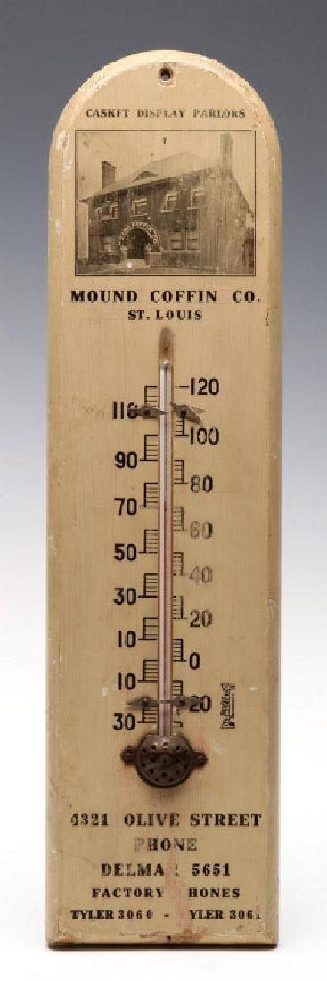 MOUND COFFIN CO ST. LOUIS MISSOURI THERMOMETER