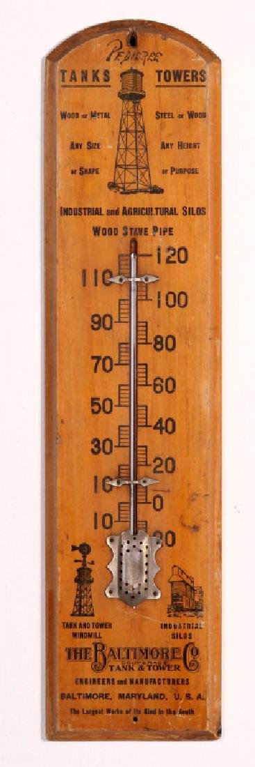 THE BALTIMORE CO TANK AND TOWER ADVTG THERMOMETER