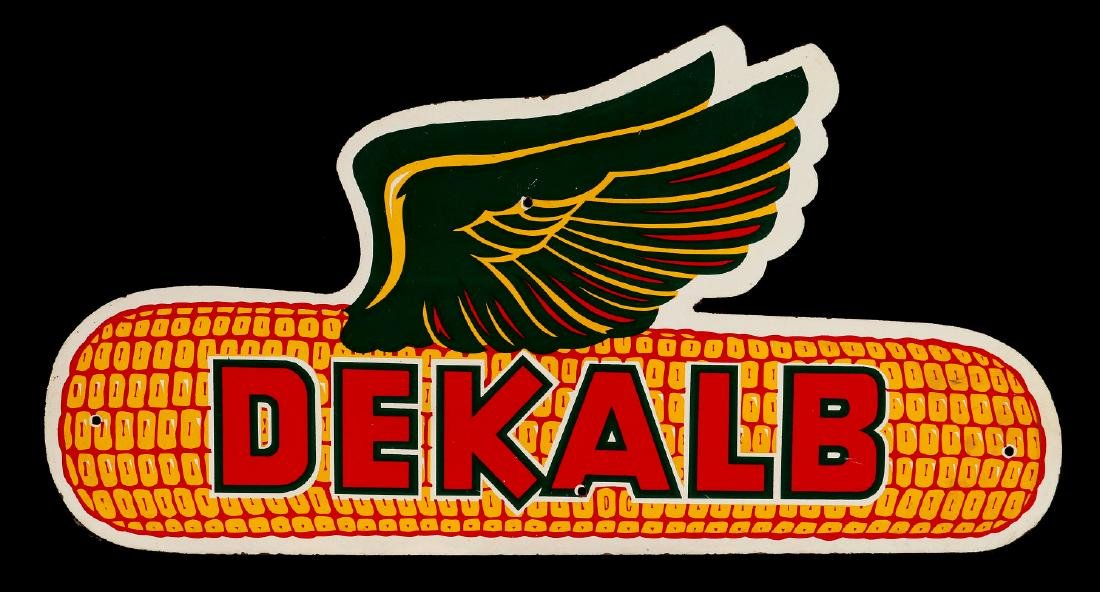A LATE 20TH CENTURY DEKALB SEED ADVERTISING SIGN