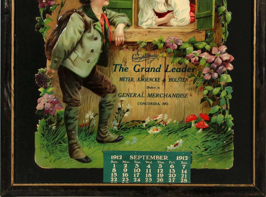 A 1912 CONCORDIA MISSOURI ADVERTISING CALENDAR - 3