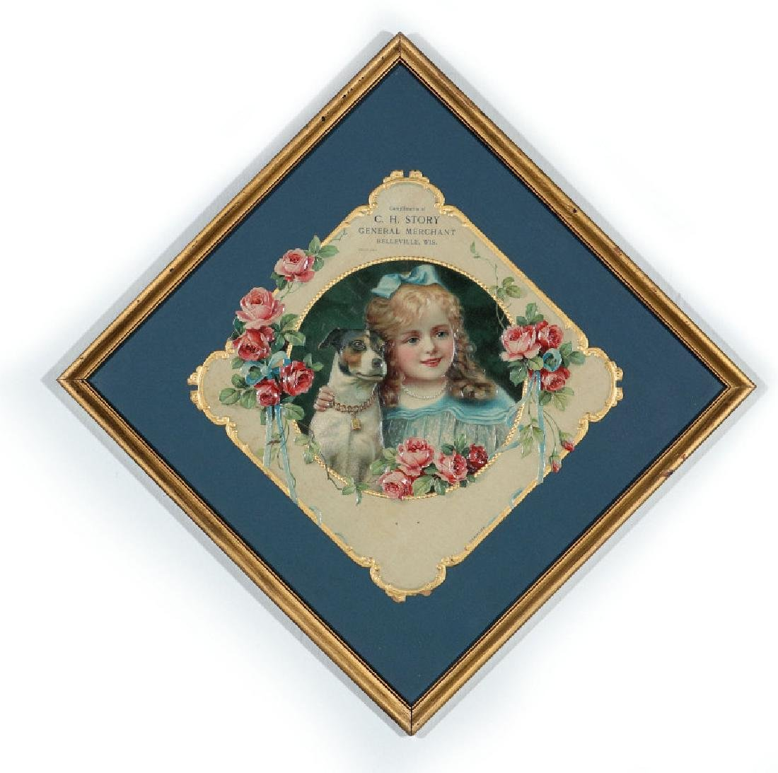 A VICTORIAN DIE-CUT COMPLIMENTS OF C. H. STORY, WI