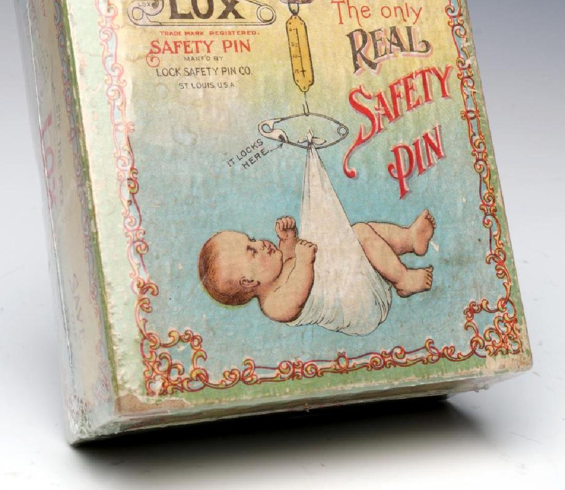 A 1900s BOX WITH GREAT GRAPHICS FOR LOX BABY PINS - 5