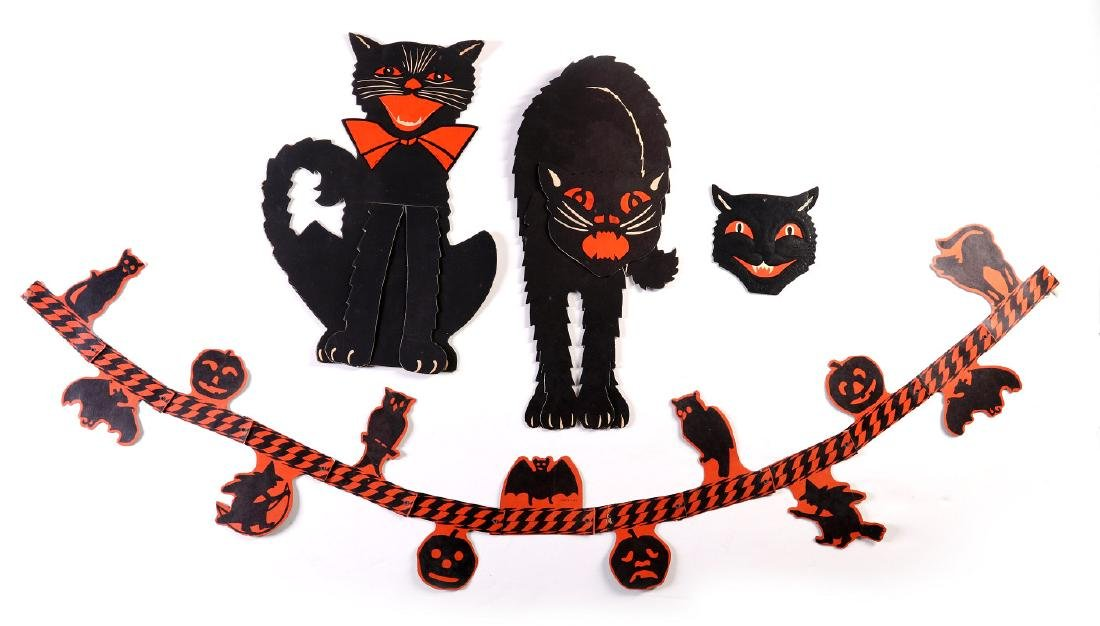 VINTAGE HALLOWEEN DECORATIONS BY BEISTLE, LUHRS