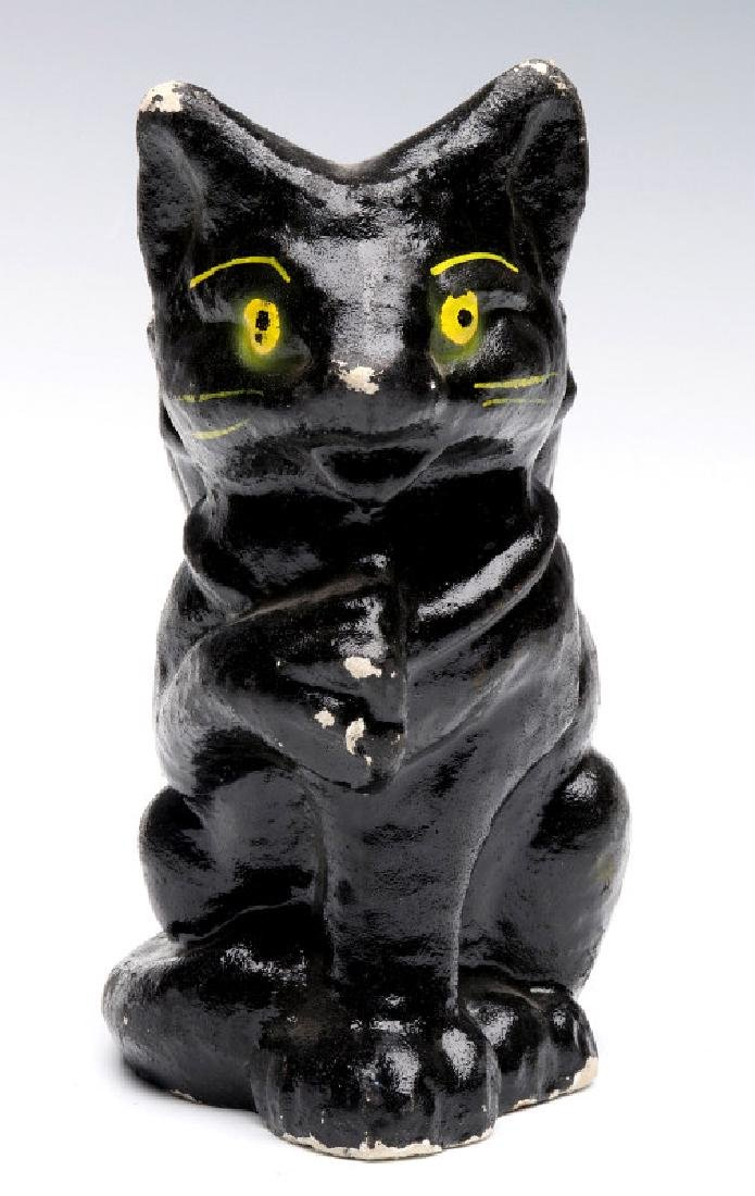 A VINTAGE HALLOWEEN BLACK CAT CANDY CONTAINER - 5