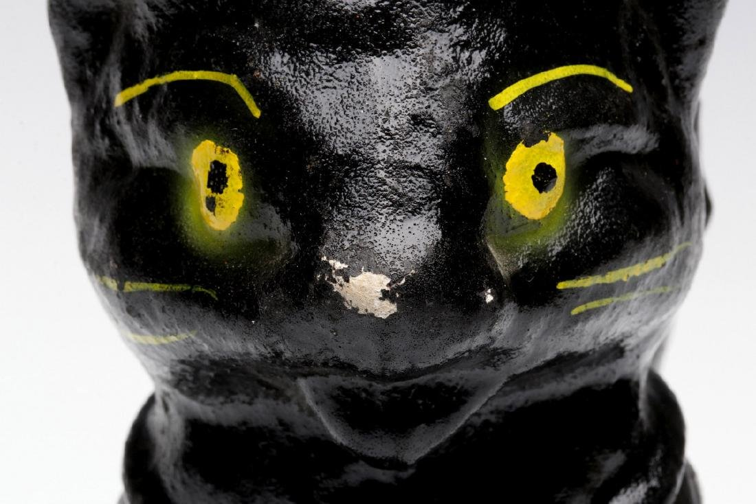 A VINTAGE HALLOWEEN BLACK CAT CANDY CONTAINER - 6