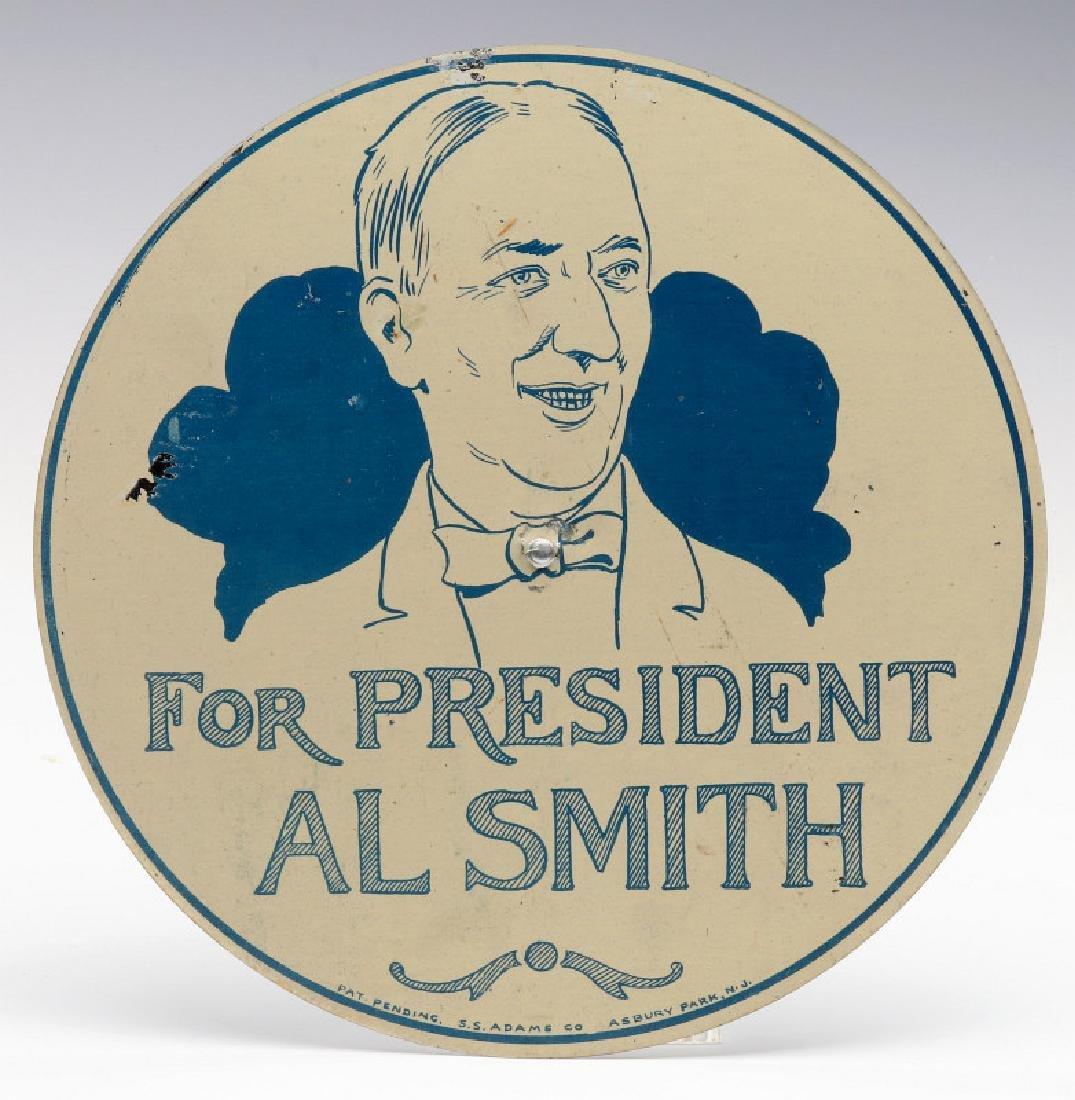 AL SMITH FOR PRESIDENT 1928 AUTOMOBILE SIGN